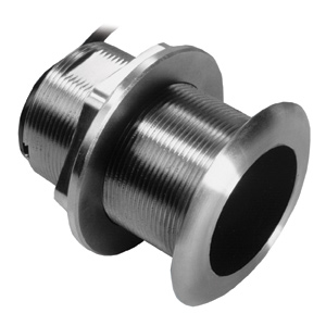 Stainless Steel Thru-hull Mount Transducer with Depth & Temperature (12° tilt) - Airmar SS60