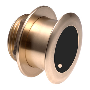 Bronze Tilted Thru-hull Transducer with Depth & Temperature (12° tilt, 8-pin) - Airmar B175L